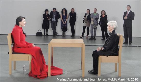 Marina Abramovic and Joan Jonas at MoMA
